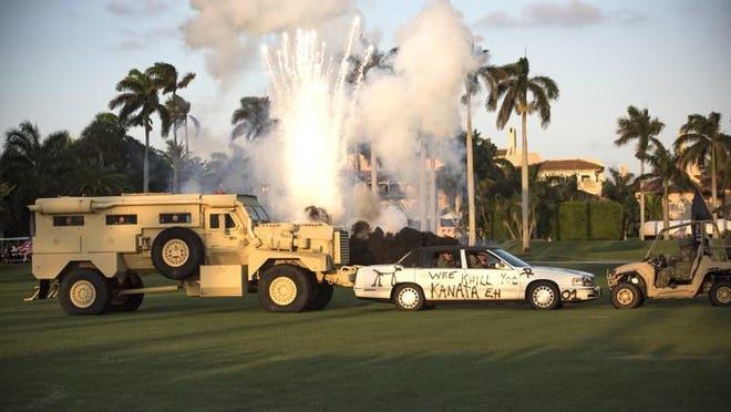 A demonstration at President Donald Trump's Mar-a-Lago Club during the 2019 Navy SEAL Foundation benefit.