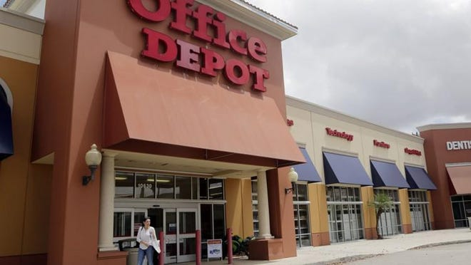 Office Depot shares are down more than 30% in 2020.
