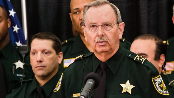 Palm Beach County Sheriff Ric Bradshaw speaks during a news conference on Monday, April 14, 2016.