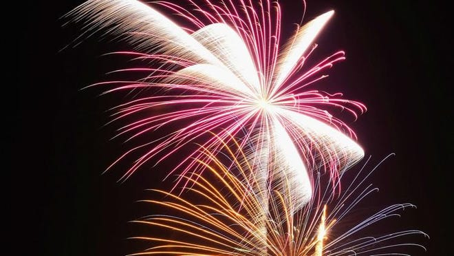 Fireworks are planned for around 9 p.m. in Newton on Saturday.