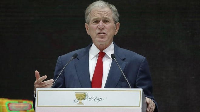 Former President George W. Bush, shown in this 2015 file photo, will be the featured speaker at the Jefferson Educational Society's 12th annual Global Summit speaker series. The date and time of Bush's Erie visit will be announced at a later date.