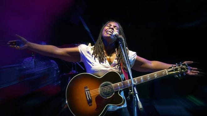 "Ruthie Foster's new album ""Live at the Paramount"" topped the Billboard blues charts on its first week of release."