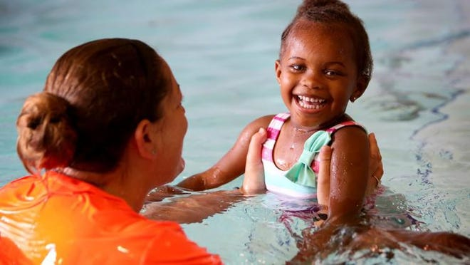 Young children should remain no more than an arm's length away from their parent or caregiver while in or around water.