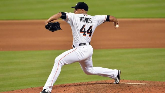 Former Texas Tech right-handed pitcher A.J. Ramos reached an agreement on a minor-league contract with the Los Angeles Dodgers on Thursday.