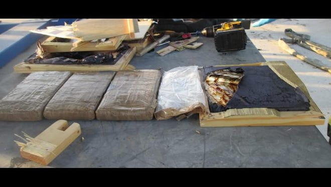 Inside the compartment, one suitcase was found with over 10 pounds of fentanyl in it, according to the Rio Grande Valley Sector. The sector said the drugs have an estimated street value of $387,000.