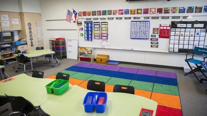 The Leander School District's Monta Akin Elementary School opened in 2017. RICARDO B. BRAZZIELL / AMERICAN-STATESMAN