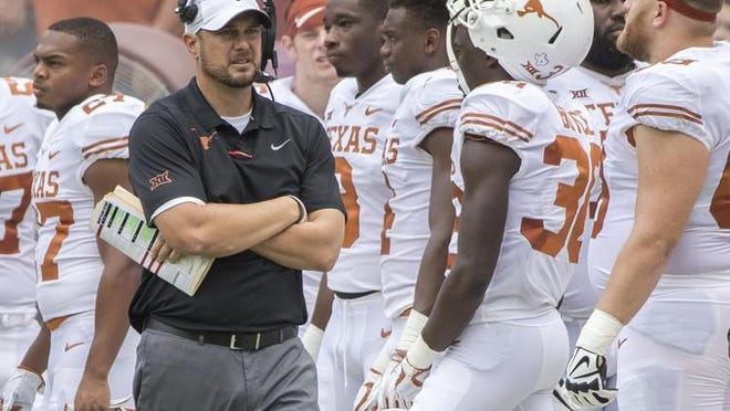 Texas coach Tom Herman and his Longhorns need to rebound after consecutive Big 12 losses to TCU and Oklahoma.