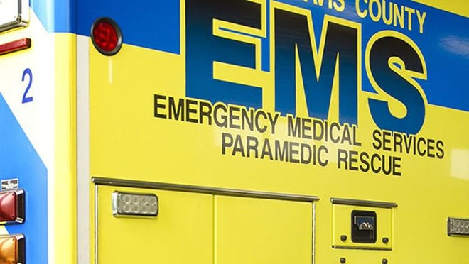 Austin-Travis County EMS officials on Friday two people are thought to be unconscious after a car hit a tree on the Interstate 35 frontage road.