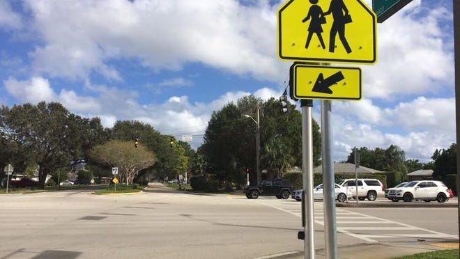 The intersection of Holly Drive and Military Trail can be tricky for students walking or biking home from Palm Beach Gardens High School because it?s busy and there?s no crossing guard, reader Karen Gilbert said.