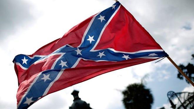 File photo of a Confederate flag