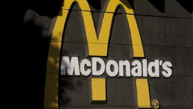 The McDonald's logo is seen outside a McDonald's restaurant.