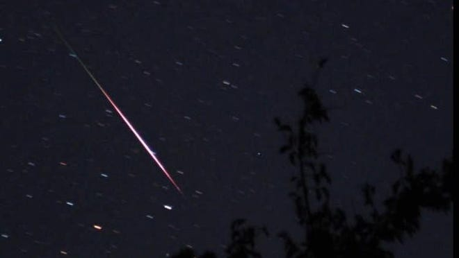 File photo of a meteor shower.