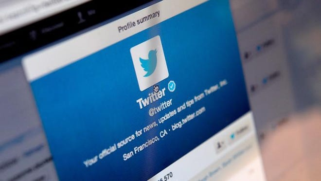 LONDON, ENGLAND - SEPTEMBER 13:  In this photo illustration, logos for the microblogging site Twitter, displayed on the internet on September 13, 2013 in London, England. Twitter has announced plans to float on the stockmarket.