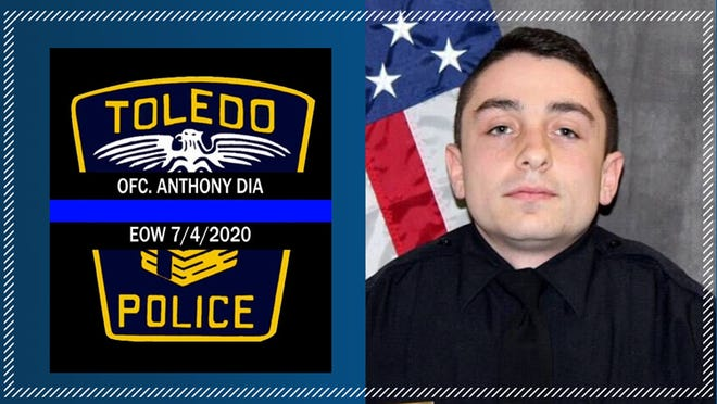 Donations collected Sunday at the Conn-Weissenberger Post No. 587 American Legion's Vehicle Show and Shine will be sent directly to the family of Toledo Police Officer Anthony Dia, 26, who was killed in the line of duty July 4 while responding to a disturbance call.
