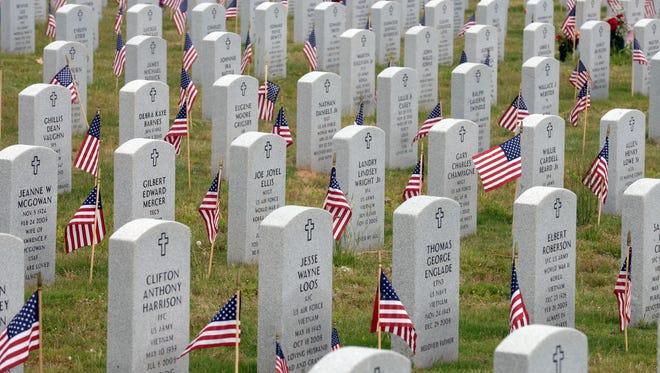 The Northwest Louisiana Veterans Cemetery in Keithville.