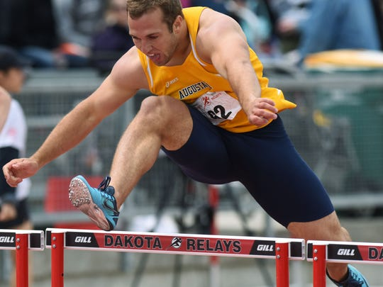 Augustana's Jason Greenway leads the way in the college
