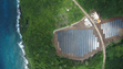 An aerial view of a Tesla Powerpack, or bank of energy