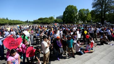 Hundreds rally at Capitol for May Day