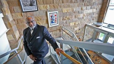 Martin University president Dr. Eugene White poses for a photo at Martin University, Monday, May 18, 2015.