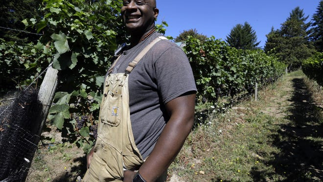 Bertony Faustin is a winemaker by accident. After moving to Portland, Ore., 15 years ago, he met his wife, and the couple moved to the city's outskirts on her parents' property, planted in 12 acres of grapes. With his in-laws' blessing, Faustin took over the vineyard in 2008.