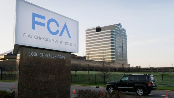 Chrysler headquarters in Auburn Hills, Mich.