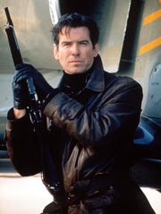 "Pierce Brosnan played James Bond in the 1997 film ""Tomorrow Never Dies."""
