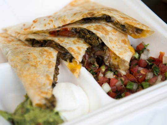 Veggie quesadilla from Wahoo's at Citizens Bank Park.