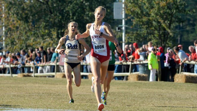 Roberson alum Rachel Koon is a redshirt sophomore for the N.C. State women's cross country program.