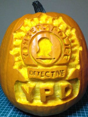 The Yonkers Police Detective Division pumpkin.