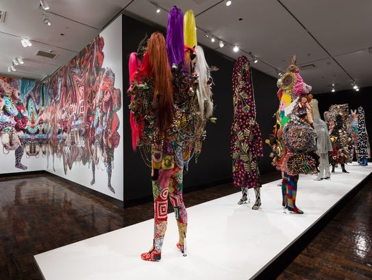 """Installation from Nick Cave """"Feat."""" at Frist Art Museum."""