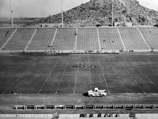 Sun Devil Stadium on opening day in 1958. Officials