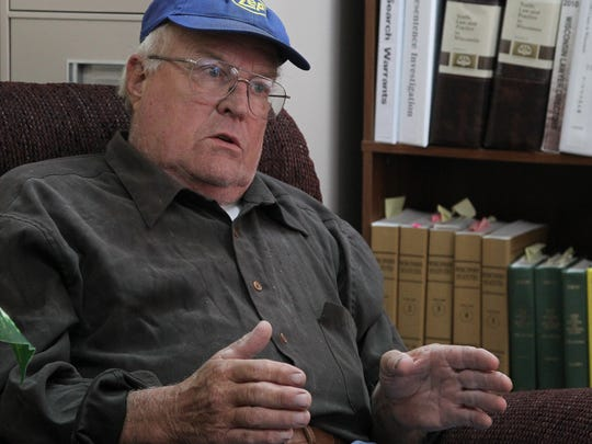 Roger Hoeppner talks about his long-running dispute with the town of Stettin at his lawyer's office in downtown Wausau, Friday, October 31, 2014.