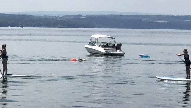 WIth temperatures expected to hit the mid-90s, it looks like another day to cool off in Canandaigua Lake.