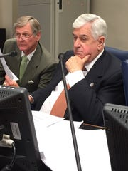 Senate President John Alario, R-Westwego, right, and Sen. Francis Thompson, D-Delhi, listen to testimony in the Senate Finance Committee. They are the two longest-serving lawmakers in the history of the Legisalture.