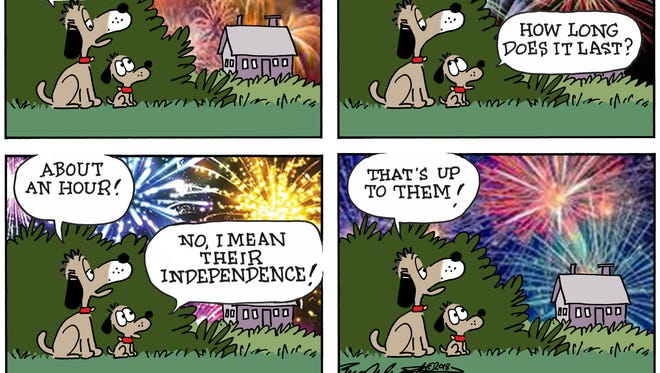 Opinion cartoon for July 4