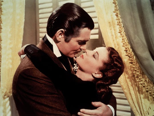 """Clark Gable and Vivien Leigh star in 1939's """"Gone with"""