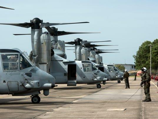 MV-22 Osprey At NASP