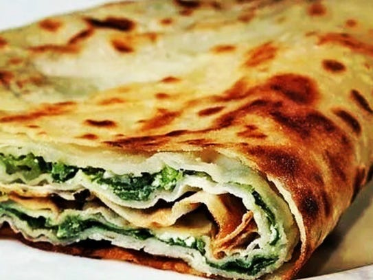 Gozleme (Turkish quesadilla) at Taskin Bakery in Paterson