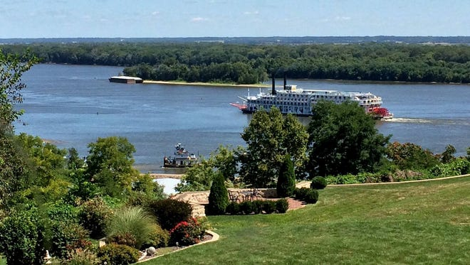 The Squirrel's Nest in Burlington features stunning views of the Mississippi River.