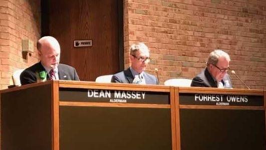Germantown aldermen, from left, Dean Massey, Forrest Owens and Rocky Janda