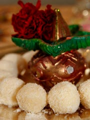Coconut Ladoo are made with just two ingredients: sweetened