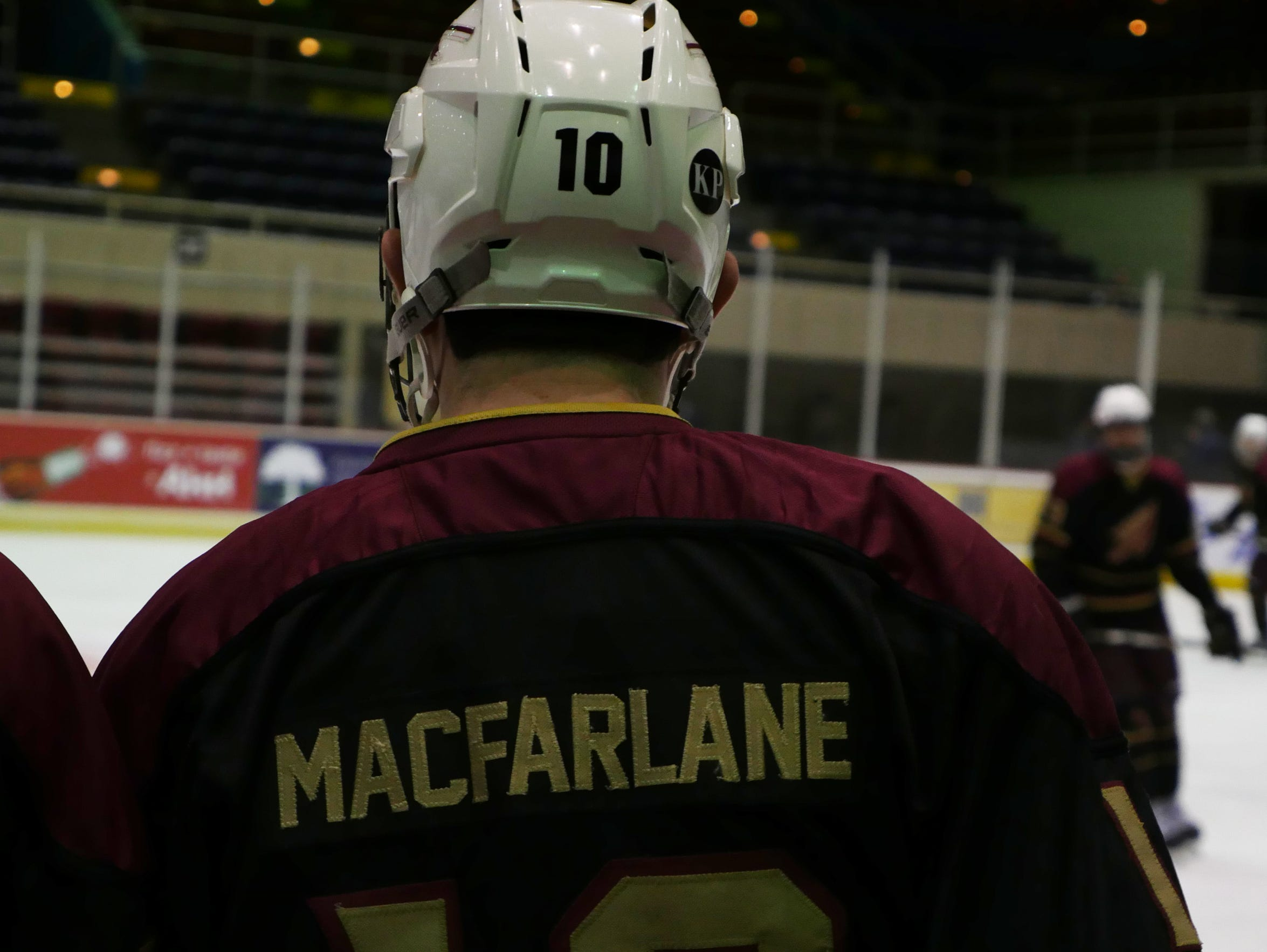 MacFarlane spent several years as part of the FSU Hockey