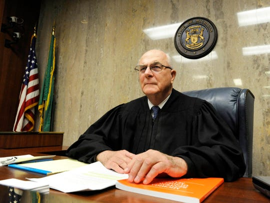 "This 2010 photo shows Judge Fred Mester in Waterford, Mich. In 2016, the former judge, who imposed Jennifer Pruitt's life-without-parole sentence in 1993, visited her in prison, saying he found ""a new person."" He wrote letters to the prosecutor and a new judge, praising Pruitt for pursuing an education, tutoring others and counseling fellow inmates."