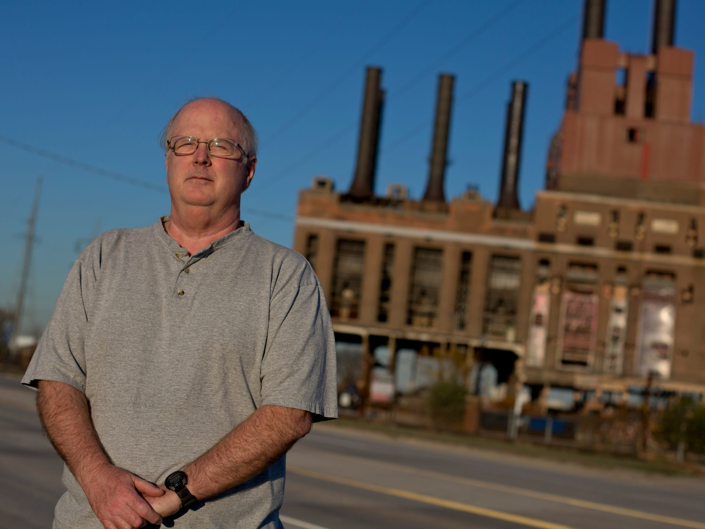 Former DTE Power Plant Operator Terry Bergstrom pictured Wednesday, November 4, 2015 in Marysville.