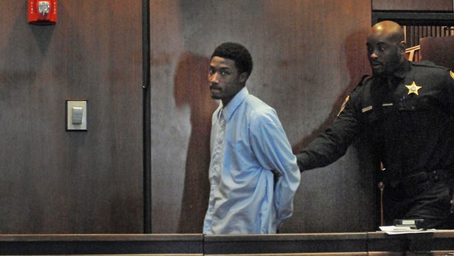 Khalil Wheeler-Weaver appears in court on Dec. 13 when arraigned in the killing of Sarah Butler of Montclair.