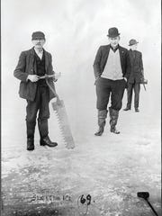 This historic photo showing Lake Erie ice harvesting is from the Rutherford B. Hayes Presidential Library and Museums' Charles E. Frohman Collection. The Hayes museum is hosting an ice harvesting exhibit.
