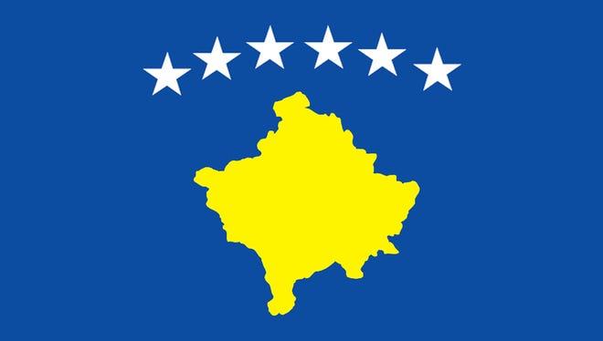 The flag of Kosovo.