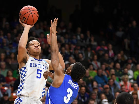 Kevin Knox was drafted ninth overall by the Knciks in the 2018 NBA Draft.