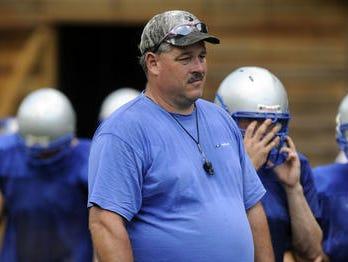 McDowell football coach Carson Gowan.