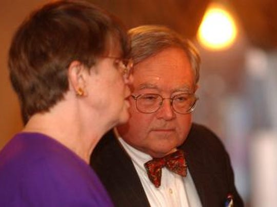 Judge Boyce F. Martin Jr., with former Attorney General Janet Reno in 2002.